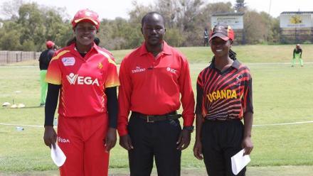 Chipo Mugeri and Kevin Awino with Patrick Makumbi
