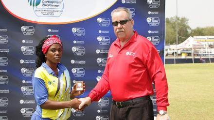 Fatuma Kibasu receives player of the match award