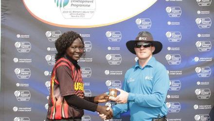 Getrude Candiru receives player of the match