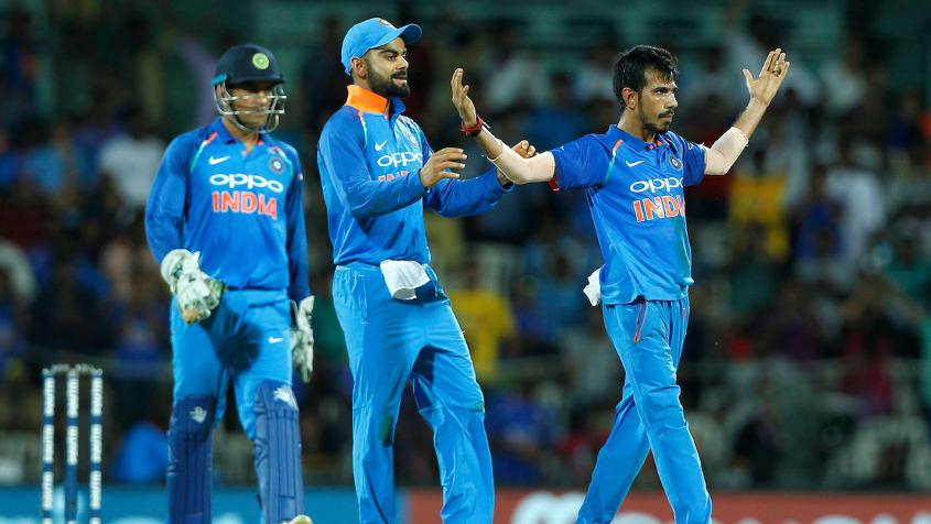 Yuzvendra Chahal ripped through the Australian batting order finishing with 3 for 30 in five overs.