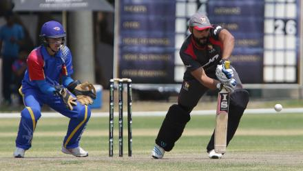 Rameez Shahzad of UAE in action against Namibia during its WCL match in Windhoek