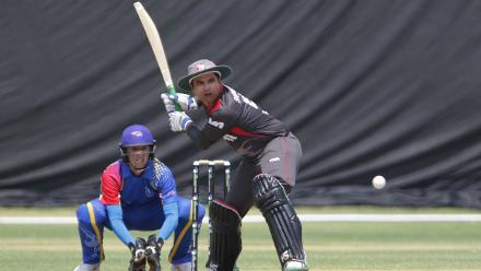 Shaiman Anwar of UAE in action against Namibia during its WCL match in Windhoek