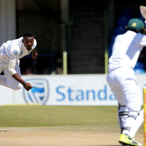 Andile Phelukwayo took a career best 3 for 36 in only his second Test.