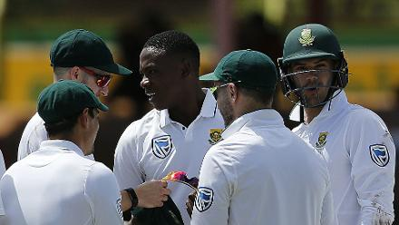 With his tenth wicket of the match, Kagiso Rabada became the fastest South African bowler to 100 Test wickets and the leading Test wicket-taker in 2017 with 54 wickets.