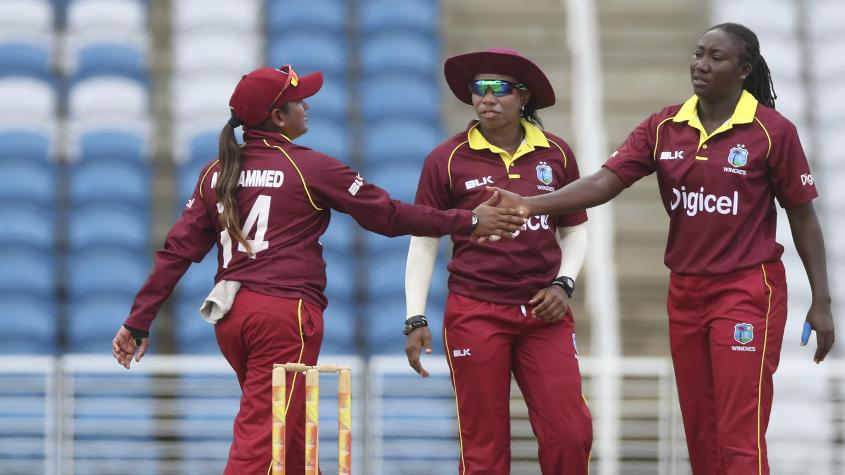 Stafanie Taylor picked up 3 for 24 in her ten-over spell to plug the visiting side back