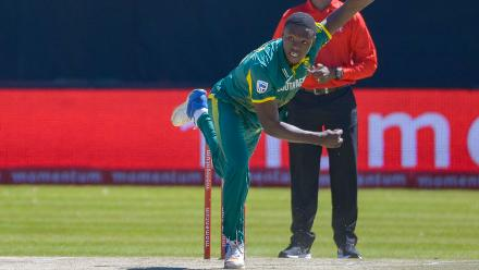 Kagiso Rabada was South Africa's best bowler with 4 for 43 in ten overs.