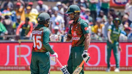The best partnership for Bangladesh came in the fourth wicket partnership worth 69 runs between Mushfiqur and Mahmudullah.