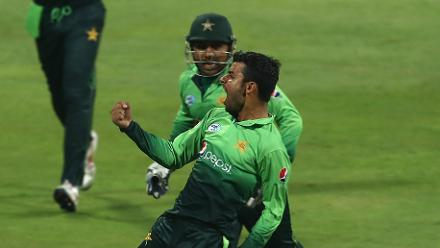 Shadab Khan was the leading bowler for Pakistan with figures of 3 for 47 in nine overs.