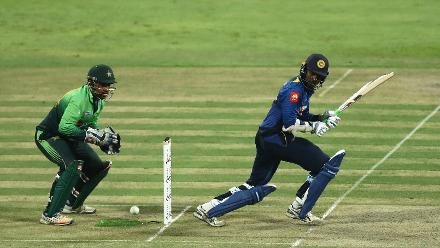 Tharanga carried his bat all the way to 112 off 144 balls in two fruitful partnerships with Thirimanne and Jeffrey Vandersay.