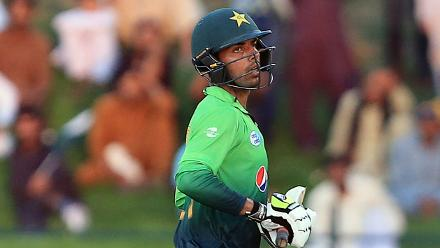 Along with Azam, Shadab Khan scored a half-century that powered Pakistan to a total of 219 for 9.