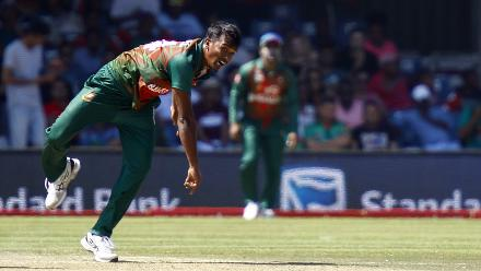 Rubel Hossain was slightly expensive but took the prized wicket of AB de Villiers.
