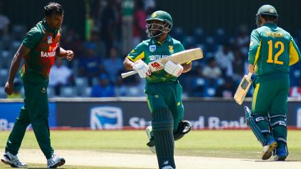 Temba Bavuma was pushed up the order as a replacement for Hashim Amla and scored 48 off 47 balls.