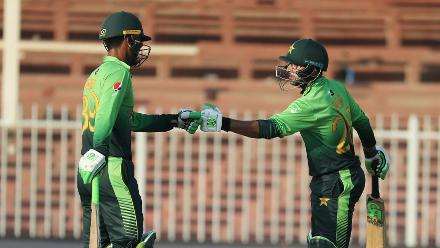 Fakhar Zaman and Imam-ul Haq were successful in navigating the Sri Lankan bowlers with an opening partnership worth 84 runs as Pakistan chased down the target to seal a 5-0 series sweep by nine wickets.