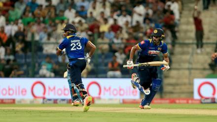 Gunathilaka put on a 63-run partnership with Sadeera Samarawickrama, who scored 32.
