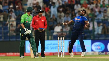 Thisara Perera, the Sri Lanka captain, stepped to the fore and returned with figures of 3 for 24 in order to stymie the Pakistan batting.