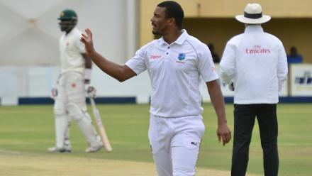 Shannon Gabriel picked up two wickets in the first innings, including the prized scalp of Sikandar Raza.