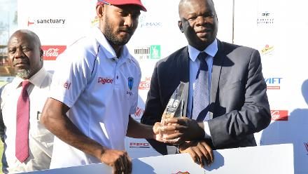 Bishoo, who took 13 wickets in two Tests, was named player of the series.