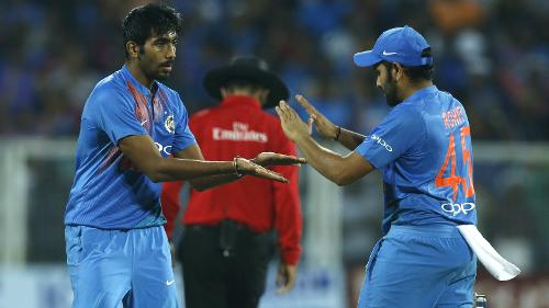 Jasprit Bumrah was brilliant with figures of 2 for 9 in two overs.