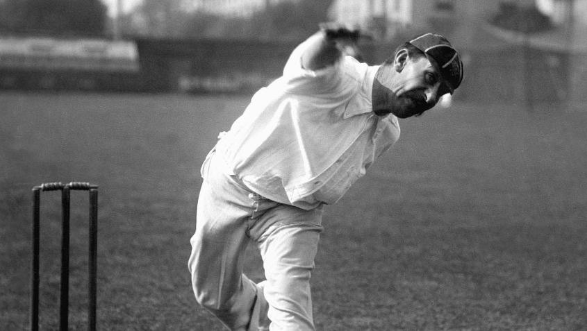 Albert Trott's double hattricks helped Middlesex win against Somerset from a possible defeat.