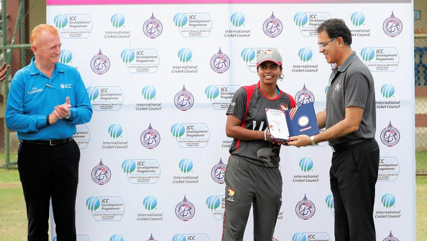 The Player of the Match from UAE v China.