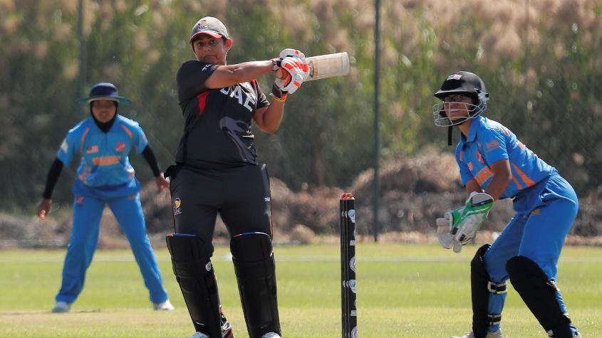 UAE scored 83 for 6, which proved to be enough to win the crucial tie. © Abhilasha Agarwal – Winsports India