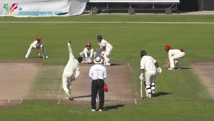 PNG v Hong Kong - Viral Clip - Batsman leaves it and is bowled