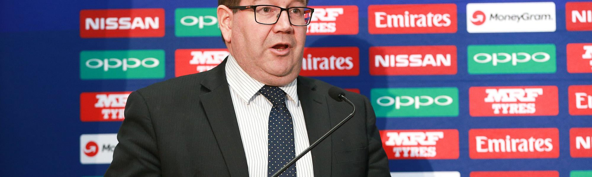 NZ Sports and Recreation Minister Grant Robertson speaks at the launch of the ICC U19 World Cup 2018 in Wellington, New Zealand.