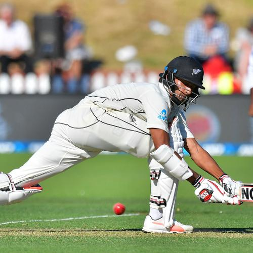 Along with Taylor, Jeet Raval was batting on 29 off a mammoth 101 balls as New Zealand ended the first day on 85 for 2, trailing by 49 runs.