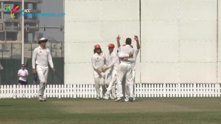 Namibia v Netherlands - Day 4 - Sarrel Burger's dismissal