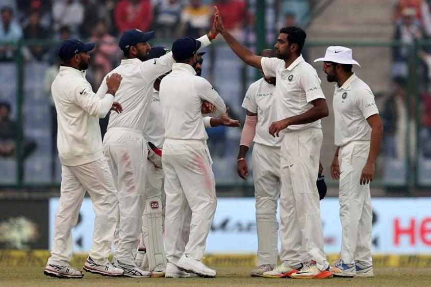 R Ashwin finished the day with three wickets against his name