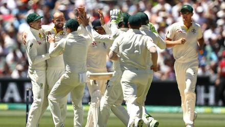 Nathan Lyon immediately got the wicket of Moeen Ali for 2 after being brought on as a bowling change.