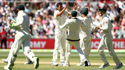 Mitchell Starc was the star of Australia's bowling with figures of 5 for 88.