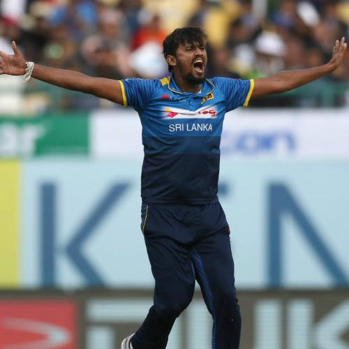 Suranga Lakmal claimed 4 for 13 as India crumbled to 112 all out in 38.2 overs