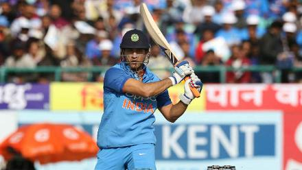 Mahendra Singh Dhoni's 65 made sure that India at least crossed the 100-run mark