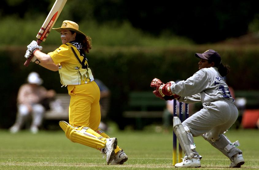 Australia's Karen Rolton of Australia scored 154 not out against Sri Lanka during the 2000 CricInfo Womens Cricket World Cup match at Hagley Oval.