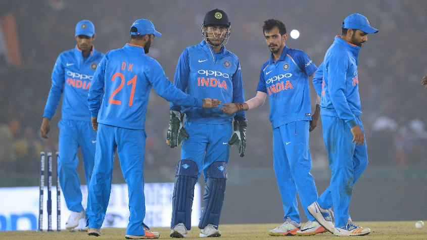 Yuzvendra Chahal was the pick of the bowlers finishing with figures of 3 for 60 in his ten overs as India romped home by 141 runs.
