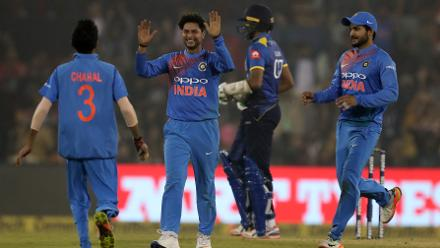 The spin duo of Yuzvendra Chahal and Kuldeep Yadav bagged six wickets between them