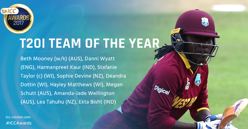 Women's T20I Team of the Year