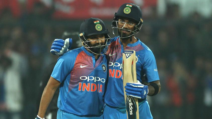 The opening partnership between KL Rahul and Rohit was worth 165 runs, a record for an Indian opening pair in T20Is.