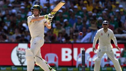 Steven Smith remained unbeaten on 65 along with Shaun Marsh batting on 31 as Australia ended Day 1 on 244/3.