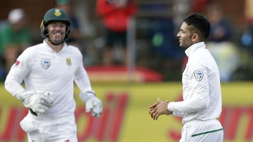 After not bowling in the first innings, Keshav Maharaj picked up a five-for in the second innings as South Africa sealed an innings and 120-run win in the one-off Test.