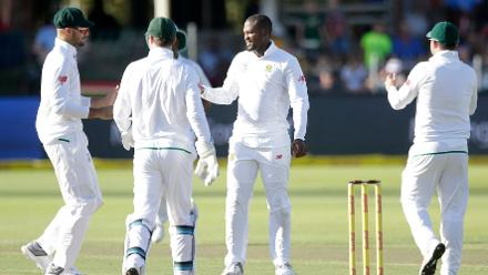 Andile Phelukwayo had match figures of 5 for 25 in only his second Test for South Africa.