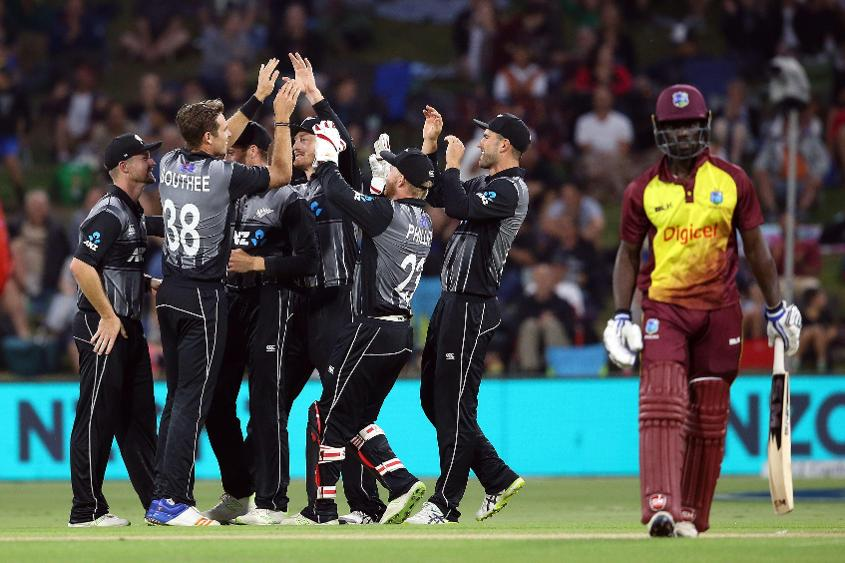 New Zealand coasted to an 119-run victory in the third T20I to go atop the rankings.