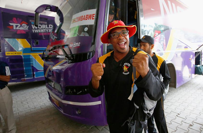 Makhaya Ntini looks excited ahead of the ICC Twenty20 World Cup Round 1 Group B match between Zimbabwe and Afghanistan