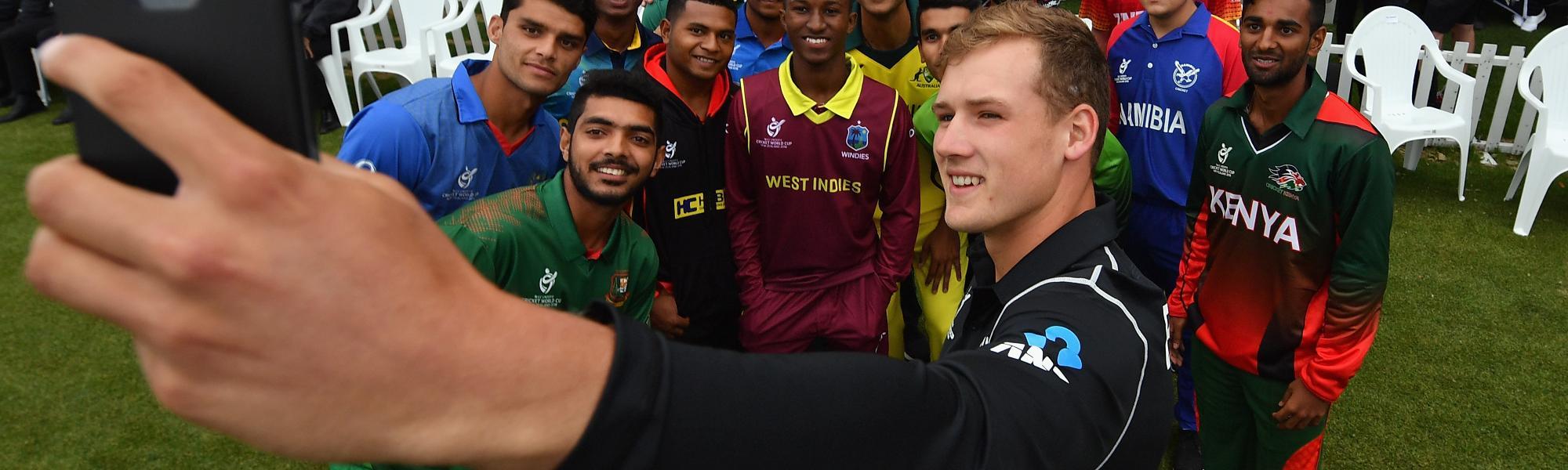 ICC U19 CWC selfie.