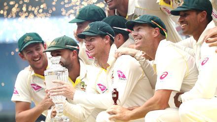 Australia celebrates 4-0 Ashes triumph