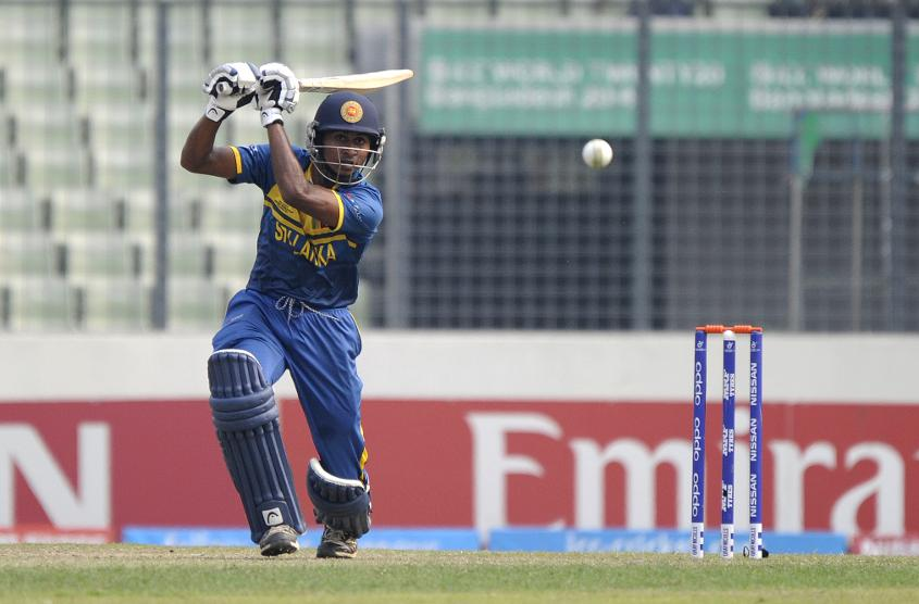 Kamindu Mendis shows off his prowess with the bat
