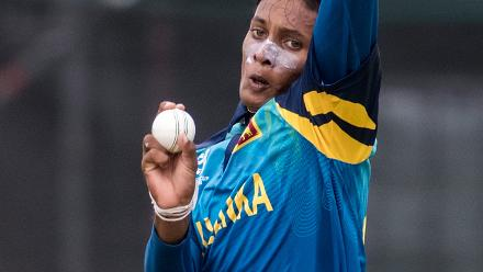 Nipun Malinga of Sri Lanka bowls during the ICC U19 Cricket World Cup Warm Up match between Sri Lanka and Australia at Hagley Park