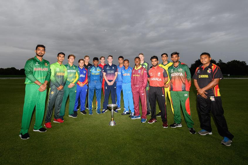 Captains at the U19CWC 2018 Opening Ceremony at Hagley Oval, Christchurch