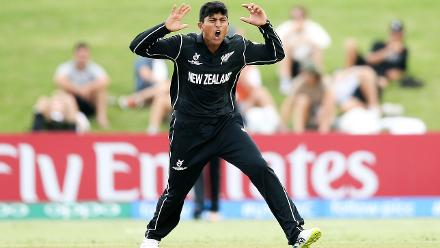 Rachin Ravindra the pick of NZ's bowlers, taking 3/30 against Windies
